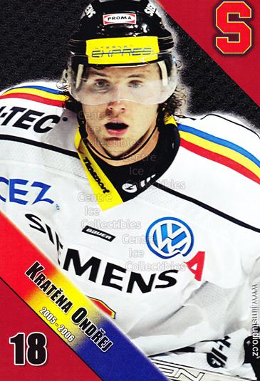 2005-06 Czech HC Sparta Praha Postcards #7 Ondrej Kratena<br/>2 In Stock - $3.00 each - <a href=https://centericecollectibles.foxycart.com/cart?name=2005-06%20Czech%20HC%20Sparta%20Praha%20Postcards%20%237%20Ondrej%20Kratena...&quantity_max=2&price=$3.00&code=125864 class=foxycart> Buy it now! </a>