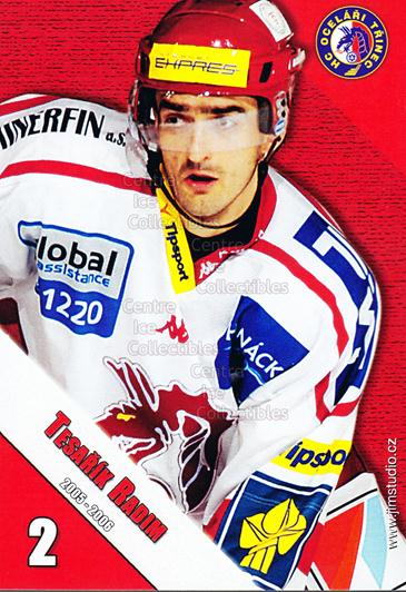 2005-06 Czech HC Ocelari Trinec Postcards #12 Radim Tesarik<br/>2 In Stock - $3.00 each - <a href=https://centericecollectibles.foxycart.com/cart?name=2005-06%20Czech%20HC%20Ocelari%20Trinec%20Postcards%20%2312%20Radim%20Tesarik...&quantity_max=2&price=$3.00&code=125868 class=foxycart> Buy it now! </a>