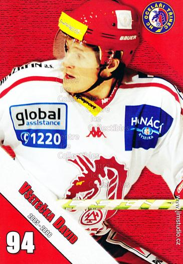 2005-06 Czech HC Ocelari Trinec Postcards #13 David Vsetecka<br/>2 In Stock - $3.00 each - <a href=https://centericecollectibles.foxycart.com/cart?name=2005-06%20Czech%20HC%20Ocelari%20Trinec%20Postcards%20%2313%20David%20Vsetecka...&quantity_max=2&price=$3.00&code=125869 class=foxycart> Buy it now! </a>