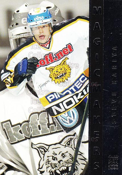 2005-06 Finnish Cardset Magic Makers #7 Steve Kariya<br/>6 In Stock - $3.00 each - <a href=https://centericecollectibles.foxycart.com/cart?name=2005-06%20Finnish%20Cardset%20Magic%20Makers%20%237%20Steve%20Kariya...&quantity_max=6&price=$3.00&code=126043 class=foxycart> Buy it now! </a>