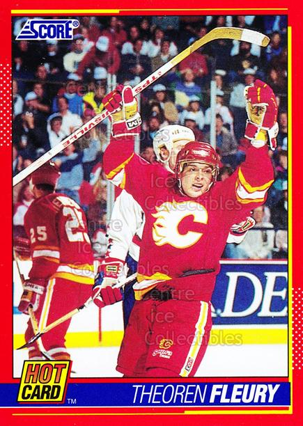1991-92 Score Hot Cards #7 Theo Fleury<br/>15 In Stock - $2.00 each - <a href=https://centericecollectibles.foxycart.com/cart?name=1991-92%20Score%20Hot%20Cards%20%237%20Theo%20Fleury...&quantity_max=15&price=$2.00&code=12619 class=foxycart> Buy it now! </a>