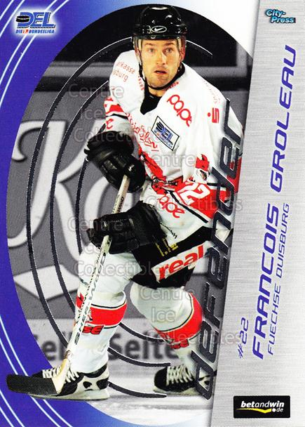 2005-06 German DEL Defender #6 Francois Groleau<br/>2 In Stock - $3.00 each - <a href=https://centericecollectibles.foxycart.com/cart?name=2005-06%20German%20DEL%20Defender%20%236%20Francois%20Grolea...&quantity_max=2&price=$3.00&code=126233 class=foxycart> Buy it now! </a>