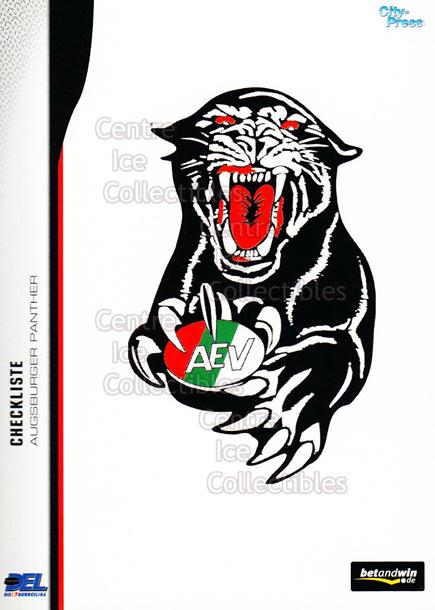 2005-06 German DEL Team Checklists #1 Augsburg Panthers, Checklist<br/>1 In Stock - $3.00 each - <a href=https://centericecollectibles.foxycart.com/cart?name=2005-06%20German%20DEL%20Team%20Checklists%20%231%20Augsburg%20Panthe...&quantity_max=1&price=$3.00&code=126247 class=foxycart> Buy it now! </a>