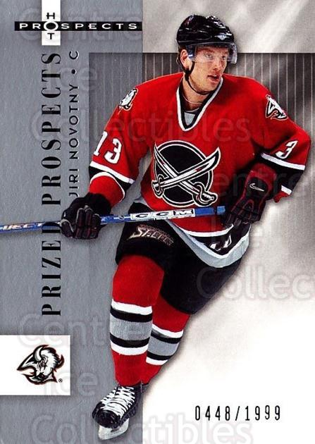 2005-06 Hot Prospects #109 Jiri Novotny<br/>4 In Stock - $3.00 each - <a href=https://centericecollectibles.foxycart.com/cart?name=2005-06%20Hot%20Prospects%20%23109%20Jiri%20Novotny...&quantity_max=4&price=$3.00&code=126506 class=foxycart> Buy it now! </a>