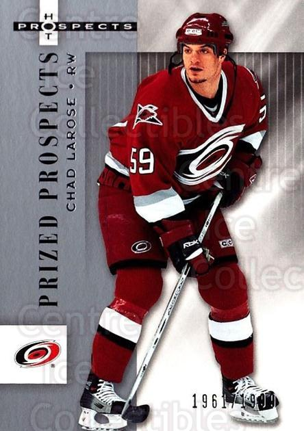 2005-06 Hot Prospects #112 Chad Larose<br/>9 In Stock - $3.00 each - <a href=https://centericecollectibles.foxycart.com/cart?name=2005-06%20Hot%20Prospects%20%23112%20Chad%20Larose...&quantity_max=9&price=$3.00&code=126510 class=foxycart> Buy it now! </a>