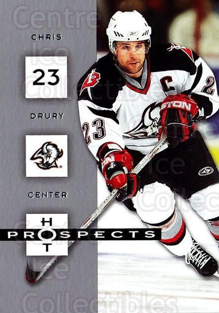 2005-06 Hot Prospects #12 Chris Drury<br/>6 In Stock - $1.00 each - <a href=https://centericecollectibles.foxycart.com/cart?name=2005-06%20Hot%20Prospects%20%2312%20Chris%20Drury...&quantity_max=6&price=$1.00&code=126518 class=foxycart> Buy it now! </a>