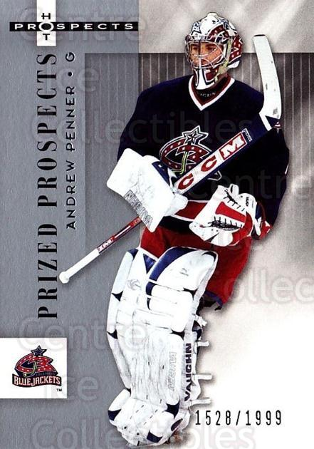 2005-06 Hot Prospects #123 Andrew Penner<br/>10 In Stock - $3.00 each - <a href=https://centericecollectibles.foxycart.com/cart?name=2005-06%20Hot%20Prospects%20%23123%20Andrew%20Penner...&quantity_max=10&price=$3.00&code=126522 class=foxycart> Buy it now! </a>