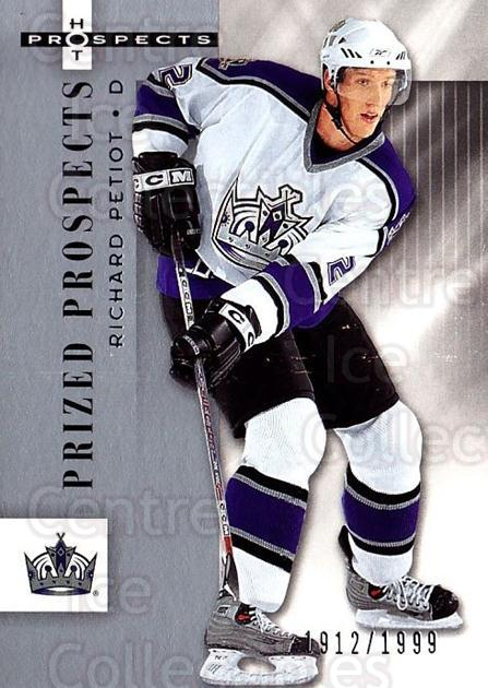 2005-06 Hot Prospects #141 Richard Petiot<br/>5 In Stock - $3.00 each - <a href=https://centericecollectibles.foxycart.com/cart?name=2005-06%20Hot%20Prospects%20%23141%20Richard%20Petiot...&quantity_max=5&price=$3.00&code=126542 class=foxycart> Buy it now! </a>