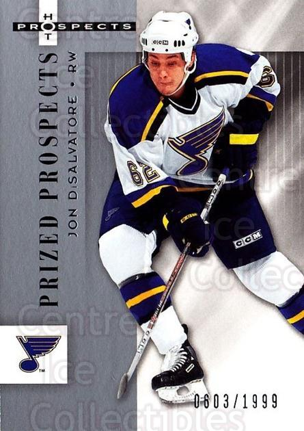 2005-06 Hot Prospects #168 Jon DiSalvatore<br/>6 In Stock - $3.00 each - <a href=https://centericecollectibles.foxycart.com/cart?name=2005-06%20Hot%20Prospects%20%23168%20Jon%20DiSalvatore...&quantity_max=6&price=$3.00&code=126571 class=foxycart> Buy it now! </a>