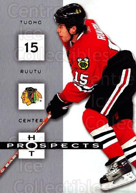 2005-06 Hot Prospects #22 Tuomo Ruutu<br/>6 In Stock - $1.00 each - <a href=https://centericecollectibles.foxycart.com/cart?name=2005-06%20Hot%20Prospects%20%2322%20Tuomo%20Ruutu...&quantity_max=6&price=$1.00&code=126597 class=foxycart> Buy it now! </a>