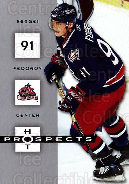 2005-06 Hot Prospects #28 Sergei Fedorov<br/>6 In Stock - $1.00 each - <a href=https://centericecollectibles.foxycart.com/cart?name=2005-06%20Hot%20Prospects%20%2328%20Sergei%20Fedorov...&quantity_max=6&price=$1.00&code=126603 class=foxycart> Buy it now! </a>