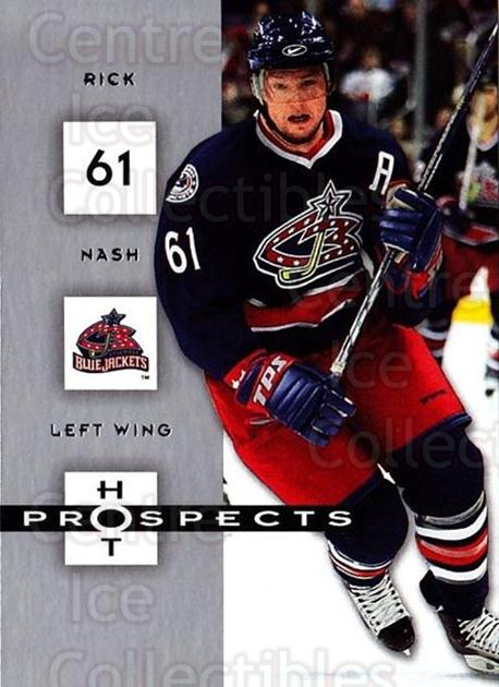 2005-06 Hot Prospects #29 Rick Nash<br/>6 In Stock - $1.00 each - <a href=https://centericecollectibles.foxycart.com/cart?name=2005-06%20Hot%20Prospects%20%2329%20Rick%20Nash...&quantity_max=6&price=$1.00&code=126604 class=foxycart> Buy it now! </a>