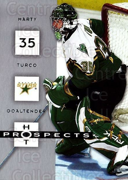 2005-06 Hot Prospects #31 Marty Turco<br/>6 In Stock - $1.00 each - <a href=https://centericecollectibles.foxycart.com/cart?name=2005-06%20Hot%20Prospects%20%2331%20Marty%20Turco...&quantity_max=6&price=$1.00&code=126607 class=foxycart> Buy it now! </a>