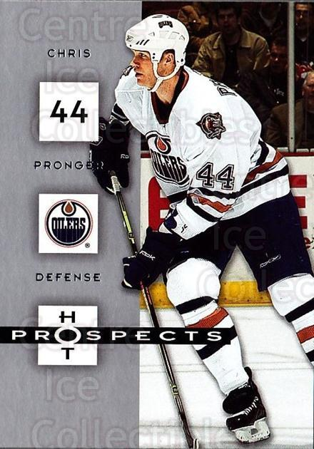 2005-06 Hot Prospects #38 Chris Pronger<br/>6 In Stock - $1.00 each - <a href=https://centericecollectibles.foxycart.com/cart?name=2005-06%20Hot%20Prospects%20%2338%20Chris%20Pronger...&quantity_max=6&price=$1.00&code=126609 class=foxycart> Buy it now! </a>