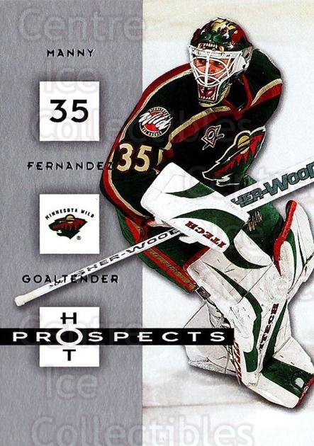 2005-06 Hot Prospects #50 Manny Fernandez<br/>6 In Stock - $1.00 each - <a href=https://centericecollectibles.foxycart.com/cart?name=2005-06%20Hot%20Prospects%20%2350%20Manny%20Fernandez...&quantity_max=6&price=$1.00&code=126623 class=foxycart> Buy it now! </a>