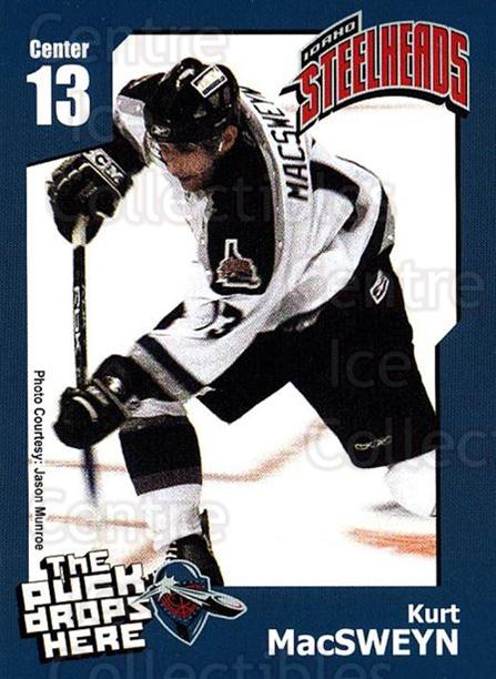 2005-06 Idaho Steelheads #14 Kurt MacSweyn<br/>1 In Stock - $3.00 each - <a href=https://centericecollectibles.foxycart.com/cart?name=2005-06%20Idaho%20Steelheads%20%2314%20Kurt%20MacSweyn...&quantity_max=1&price=$3.00&code=126642 class=foxycart> Buy it now! </a>