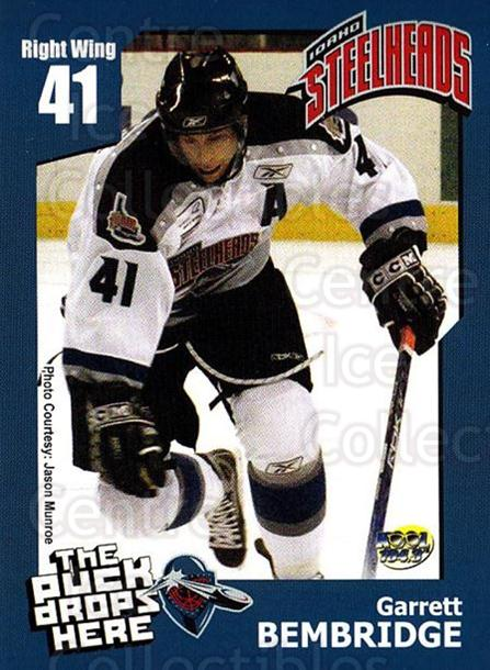 2005-06 Idaho Steelheads #2 Garett Bembridge<br/>1 In Stock - $3.00 each - <a href=https://centericecollectibles.foxycart.com/cart?name=2005-06%20Idaho%20Steelheads%20%232%20Garett%20Bembridg...&quantity_max=1&price=$3.00&code=126646 class=foxycart> Buy it now! </a>