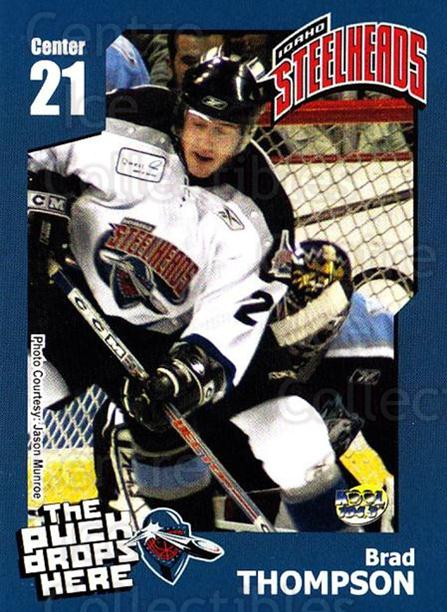 2005-06 Idaho Steelheads #21 Brad Thompson<br/>2 In Stock - $3.00 each - <a href=https://centericecollectibles.foxycart.com/cart?name=2005-06%20Idaho%20Steelheads%20%2321%20Brad%20Thompson...&quantity_max=2&price=$3.00&code=126647 class=foxycart> Buy it now! </a>