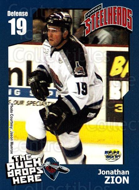 2005-06 Idaho Steelheads #24 Jonathan Zion<br/>1 In Stock - $3.00 each - <a href=https://centericecollectibles.foxycart.com/cart?name=2005-06%20Idaho%20Steelheads%20%2324%20Jonathan%20Zion...&quantity_max=1&price=$3.00&code=126648 class=foxycart> Buy it now! </a>