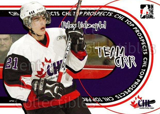 2005-06 ITG Heroes and Prospects Team Orr #12 Riley Holzapfel<br/>42 In Stock - $2.00 each - <a href=https://centericecollectibles.foxycart.com/cart?name=2005-06%20ITG%20Heroes%20and%20Prospects%20Team%20Orr%20%2312%20Riley%20Holzapfel...&quantity_max=42&price=$2.00&code=126654 class=foxycart> Buy it now! </a>