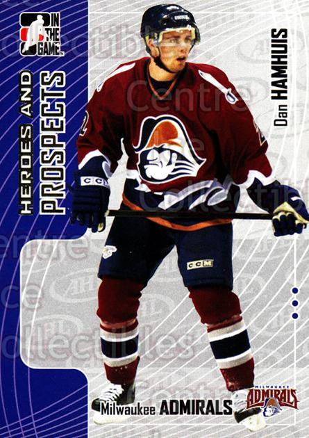 2005-06 ITG Heroes and Prospects #104 Dan Hamhuis<br/>19 In Stock - $1.00 each - <a href=https://centericecollectibles.foxycart.com/cart?name=2005-06%20ITG%20Heroes%20and%20Prospects%20%23104%20Dan%20Hamhuis...&price=$1.00&code=126675 class=foxycart> Buy it now! </a>