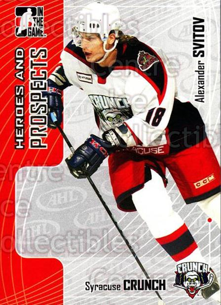 2005-06 ITG Heroes and Prospects #106 Alexander Svitov<br/>20 In Stock - $1.00 each - <a href=https://centericecollectibles.foxycart.com/cart?name=2005-06%20ITG%20Heroes%20and%20Prospects%20%23106%20Alexander%20Svito...&price=$1.00&code=126676 class=foxycart> Buy it now! </a>