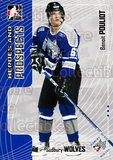 2005-06 ITG Heroes and Prospects #134 Benoit Pouliot<br/>22 In Stock - $1.00 each - <a href=https://centericecollectibles.foxycart.com/cart?name=2005-06%20ITG%20Heroes%20and%20Prospects%20%23134%20Benoit%20Pouliot...&price=$1.00&code=126698 class=foxycart> Buy it now! </a>