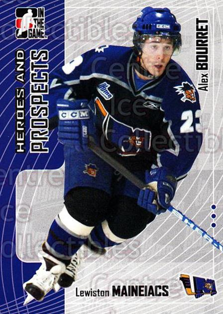 2005-06 ITG Heroes and Prospects #145 Alex Bourret<br/>18 In Stock - $1.00 each - <a href=https://centericecollectibles.foxycart.com/cart?name=2005-06%20ITG%20Heroes%20and%20Prospects%20%23145%20Alex%20Bourret...&price=$1.00&code=126708 class=foxycart> Buy it now! </a>