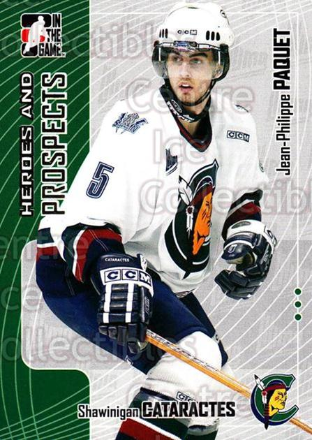 2005-06 ITG Heroes and Prospects #148 Jean-Philippe Paquet<br/>18 In Stock - $1.00 each - <a href=https://centericecollectibles.foxycart.com/cart?name=2005-06%20ITG%20Heroes%20and%20Prospects%20%23148%20Jean-Philippe%20P...&quantity_max=18&price=$1.00&code=126711 class=foxycart> Buy it now! </a>
