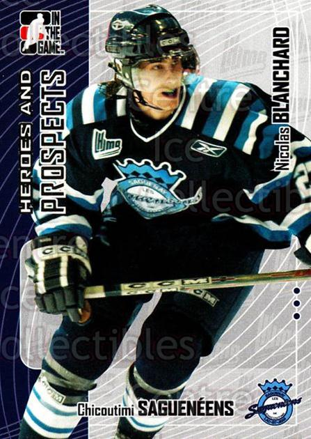 2005-06 ITG Heroes and Prospects #150 Nicolas Blanchard<br/>19 In Stock - $1.00 each - <a href=https://centericecollectibles.foxycart.com/cart?name=2005-06%20ITG%20Heroes%20and%20Prospects%20%23150%20Nicolas%20Blancha...&price=$1.00&code=126714 class=foxycart> Buy it now! </a>