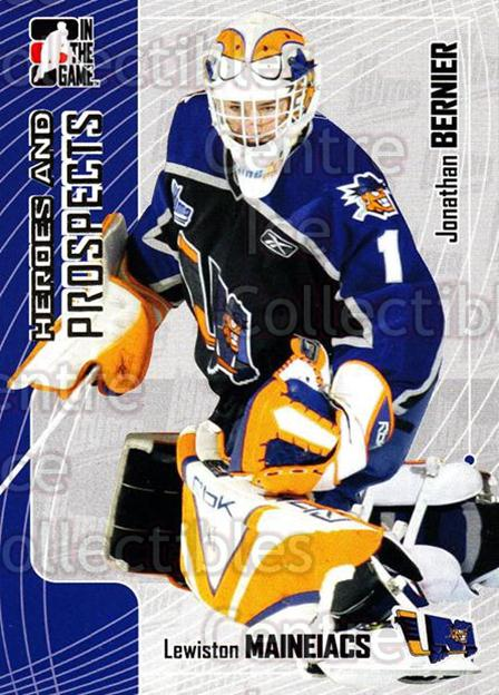 2005-06 ITG Heroes and Prospects #152 Jonathan Bernier<br/>17 In Stock - $2.00 each - <a href=https://centericecollectibles.foxycart.com/cart?name=2005-06%20ITG%20Heroes%20and%20Prospects%20%23152%20Jonathan%20Bernie...&price=$2.00&code=126715 class=foxycart> Buy it now! </a>