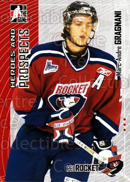 2005-06 ITG Heroes and Prospects #156 Marc-Andre Gragnani<br/>17 In Stock - $1.00 each - <a href=https://centericecollectibles.foxycart.com/cart?name=2005-06%20ITG%20Heroes%20and%20Prospects%20%23156%20Marc-Andre%20Grag...&price=$1.00&code=126719 class=foxycart> Buy it now! </a>