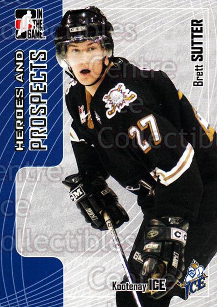 2005-06 ITG Heroes and Prospects #158 Brett Sutter<br/>21 In Stock - $1.00 each - <a href=https://centericecollectibles.foxycart.com/cart?name=2005-06%20ITG%20Heroes%20and%20Prospects%20%23158%20Brett%20Sutter...&price=$1.00&code=126720 class=foxycart> Buy it now! </a>