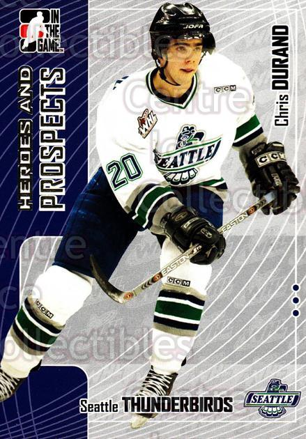 2005-06 ITG Heroes and Prospects #167 Chris Durand<br/>19 In Stock - $1.00 each - <a href=https://centericecollectibles.foxycart.com/cart?name=2005-06%20ITG%20Heroes%20and%20Prospects%20%23167%20Chris%20Durand...&price=$1.00&code=126728 class=foxycart> Buy it now! </a>