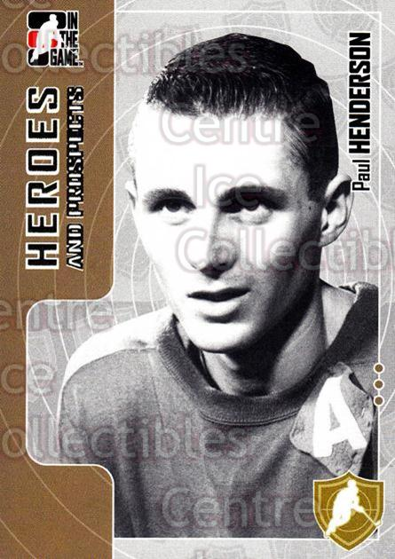 2005-06 ITG Heroes and Prospects #17 Paul Henderson<br/>19 In Stock - $1.00 each - <a href=https://centericecollectibles.foxycart.com/cart?name=2005-06%20ITG%20Heroes%20and%20Prospects%20%2317%20Paul%20Henderson...&price=$1.00&code=126731 class=foxycart> Buy it now! </a>