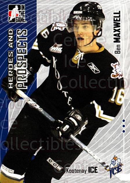 2005-06 ITG Heroes and Prospects #173 Ben Maxwell<br/>20 In Stock - $1.00 each - <a href=https://centericecollectibles.foxycart.com/cart?name=2005-06%20ITG%20Heroes%20and%20Prospects%20%23173%20Ben%20Maxwell...&price=$1.00&code=126735 class=foxycart> Buy it now! </a>