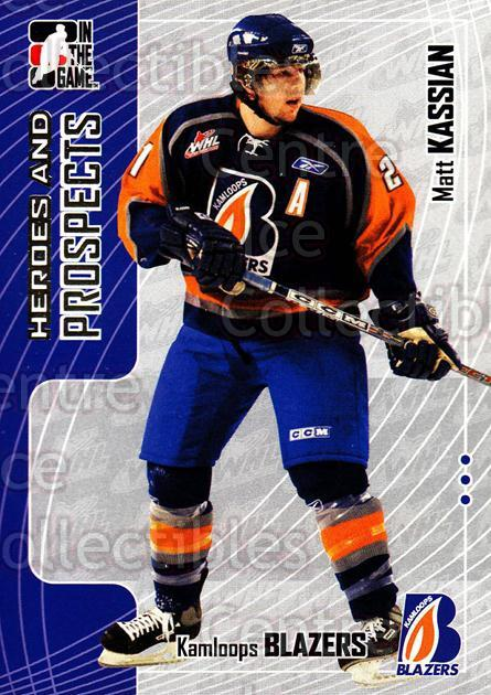 2005-06 ITG Heroes and Prospects #175 Matt Kassian<br/>19 In Stock - $1.00 each - <a href=https://centericecollectibles.foxycart.com/cart?name=2005-06%20ITG%20Heroes%20and%20Prospects%20%23175%20Matt%20Kassian...&price=$1.00&code=126737 class=foxycart> Buy it now! </a>