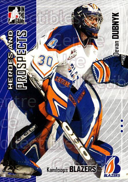 2005-06 ITG Heroes and Prospects #178 Devan Dubnyk<br/>18 In Stock - $1.00 each - <a href=https://centericecollectibles.foxycart.com/cart?name=2005-06%20ITG%20Heroes%20and%20Prospects%20%23178%20Devan%20Dubnyk...&price=$1.00&code=126740 class=foxycart> Buy it now! </a>