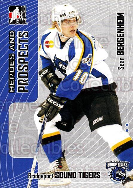 2005-06 ITG Heroes and Prospects #207 Sean Bergenheim<br/>7 In Stock - $1.00 each - <a href=https://centericecollectibles.foxycart.com/cart?name=2005-06%20ITG%20Heroes%20and%20Prospects%20%23207%20Sean%20Bergenheim...&price=$1.00&code=126768 class=foxycart> Buy it now! </a>