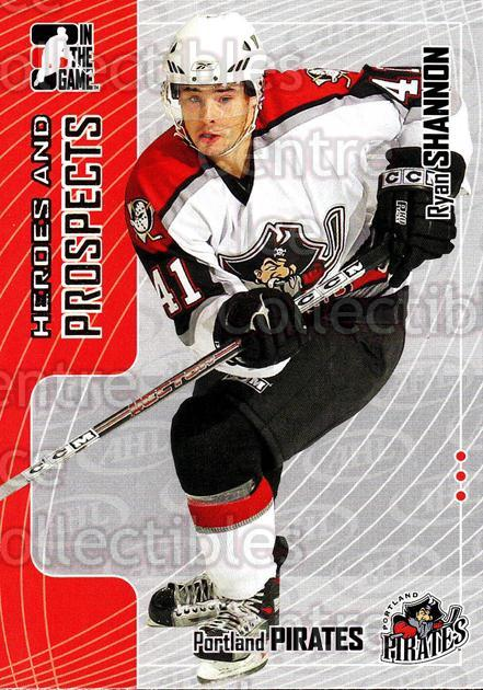 2005-06 ITG Heroes and Prospects #208 Ryan Shannon<br/>5 In Stock - $1.00 each - <a href=https://centericecollectibles.foxycart.com/cart?name=2005-06%20ITG%20Heroes%20and%20Prospects%20%23208%20Ryan%20Shannon...&price=$1.00&code=126769 class=foxycart> Buy it now! </a>