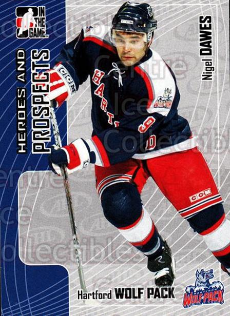 2005-06 ITG Heroes and Prospects #234 Nigel Dawes<br/>9 In Stock - $1.00 each - <a href=https://centericecollectibles.foxycart.com/cart?name=2005-06%20ITG%20Heroes%20and%20Prospects%20%23234%20Nigel%20Dawes...&price=$1.00&code=126797 class=foxycart> Buy it now! </a>