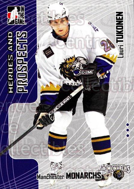 2005-06 ITG Heroes and Prospects #251 Lauri Tukonen<br/>7 In Stock - $1.00 each - <a href=https://centericecollectibles.foxycart.com/cart?name=2005-06%20ITG%20Heroes%20and%20Prospects%20%23251%20Lauri%20Tukonen...&price=$1.00&code=126816 class=foxycart> Buy it now! </a>