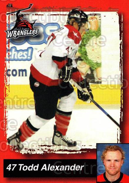2005-06 Las Vegas Wranglers #1 Todd Alexander<br/>6 In Stock - $3.00 each - <a href=https://centericecollectibles.foxycart.com/cart?name=2005-06%20Las%20Vegas%20Wranglers%20%231%20Todd%20Alexander...&quantity_max=6&price=$3.00&code=126882 class=foxycart> Buy it now! </a>