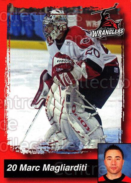 2005-06 Las Vegas Wranglers #12 Marc Magliarditi<br/>5 In Stock - $3.00 each - <a href=https://centericecollectibles.foxycart.com/cart?name=2005-06%20Las%20Vegas%20Wranglers%20%2312%20Marc%20Magliardit...&quantity_max=5&price=$3.00&code=126885 class=foxycart> Buy it now! </a>