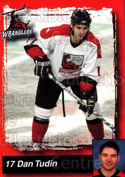 2005-06 Las Vegas Wranglers #22 Dan Tudin<br/>4 In Stock - $3.00 each - <a href=https://centericecollectibles.foxycart.com/cart?name=2005-06%20Las%20Vegas%20Wranglers%20%2322%20Dan%20Tudin...&quantity_max=4&price=$3.00&code=126894 class=foxycart> Buy it now! </a>