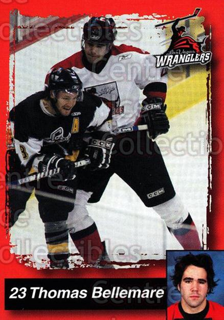 2005-06 Las Vegas Wranglers #3 Thomas Bellemare<br/>4 In Stock - $3.00 each - <a href=https://centericecollectibles.foxycart.com/cart?name=2005-06%20Las%20Vegas%20Wranglers%20%233%20Thomas%20Bellemar...&quantity_max=4&price=$3.00&code=126898 class=foxycart> Buy it now! </a>
