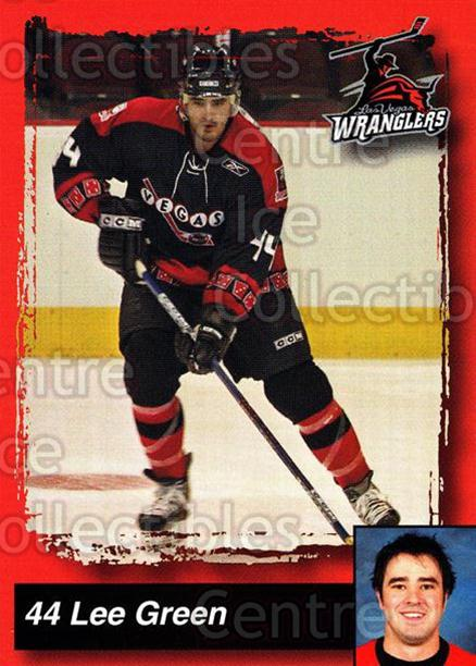 2005-06 Las Vegas Wranglers #8 Lee Green<br/>6 In Stock - $3.00 each - <a href=https://centericecollectibles.foxycart.com/cart?name=2005-06%20Las%20Vegas%20Wranglers%20%238%20Lee%20Green...&quantity_max=6&price=$3.00&code=126901 class=foxycart> Buy it now! </a>