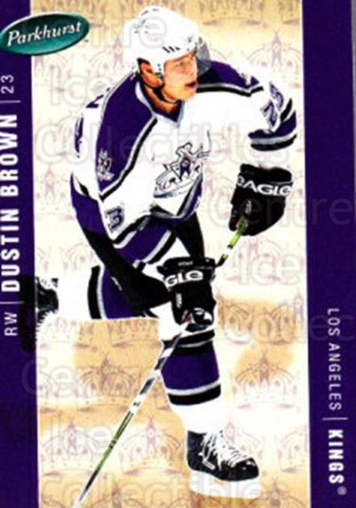 2005-06 Parkhurst #228 Dustin Brown<br/>6 In Stock - $1.00 each - <a href=https://centericecollectibles.foxycart.com/cart?name=2005-06%20Parkhurst%20%23228%20Dustin%20Brown...&quantity_max=6&price=$1.00&code=126972 class=foxycart> Buy it now! </a>