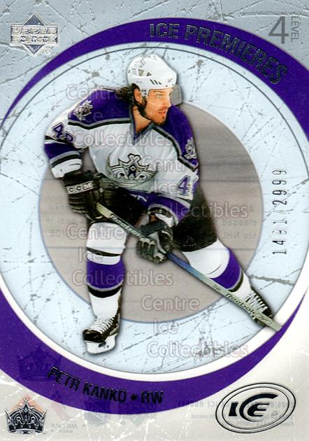 2005-06 UD Ice #241 Petr Kanko<br/>1 In Stock - $3.00 each - <a href=https://centericecollectibles.foxycart.com/cart?name=2005-06%20UD%20Ice%20%23241%20Petr%20Kanko...&quantity_max=1&price=$3.00&code=127050 class=foxycart> Buy it now! </a>