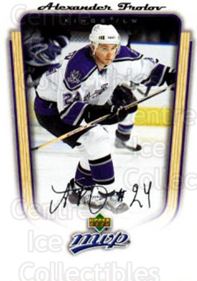 2005-06 Upper Deck MVP #184 Alexander Frolov<br/>5 In Stock - $1.00 each - <a href=https://centericecollectibles.foxycart.com/cart?name=2005-06%20Upper%20Deck%20MVP%20%23184%20Alexander%20Frolo...&quantity_max=5&price=$1.00&code=127062 class=foxycart> Buy it now! </a>